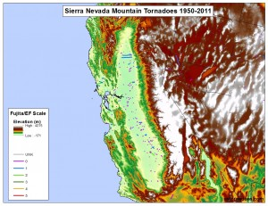 Sierra Nevada Mountain Tornadoes US Tornadoes