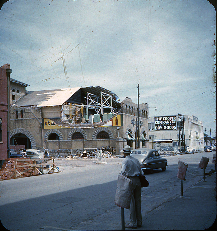 Dr Pepper Bottling Co., 300 S. 5th Street,Waco,Texas, after the 1953 Waco Tornado