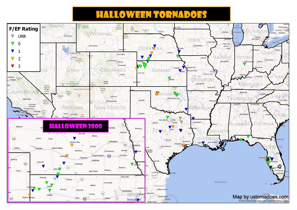 Tornado data courtesy of the Storm Prediction Center. Map by Kathryn Prociv.