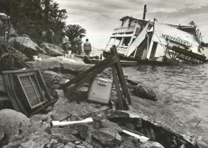Whippoorwill Showboat after the tornado hit. (Topeka Capital-Journal)