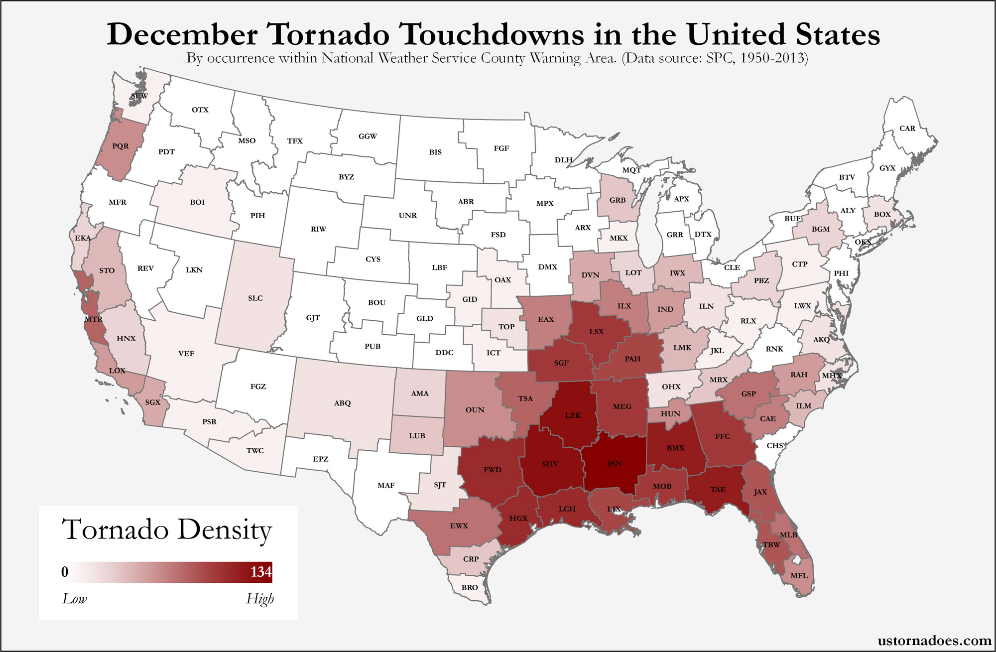 Heres Where Tornadoes Typically Form In December Across The - Tornado maps in us