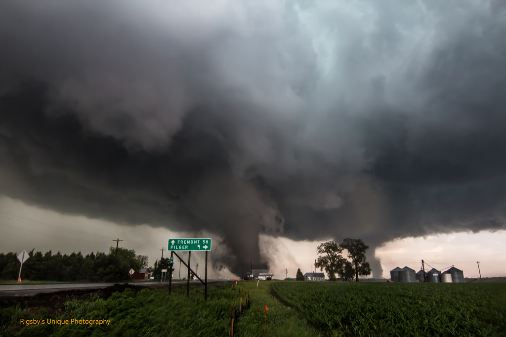 Tornadoes sweep through the Pilger, NE area in June 2014. (Aaron Rigsby via Flickr)