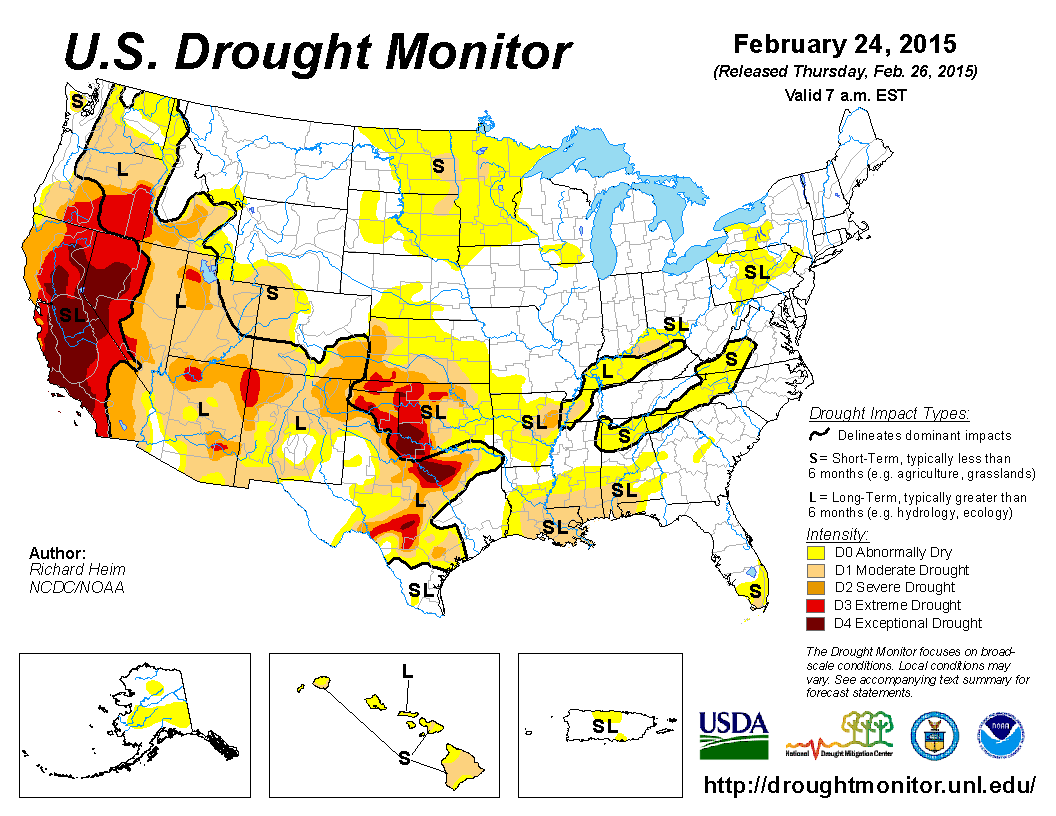 Thunderstorm Activity Is Peaking In Parts Of The United States - Us weather drought map