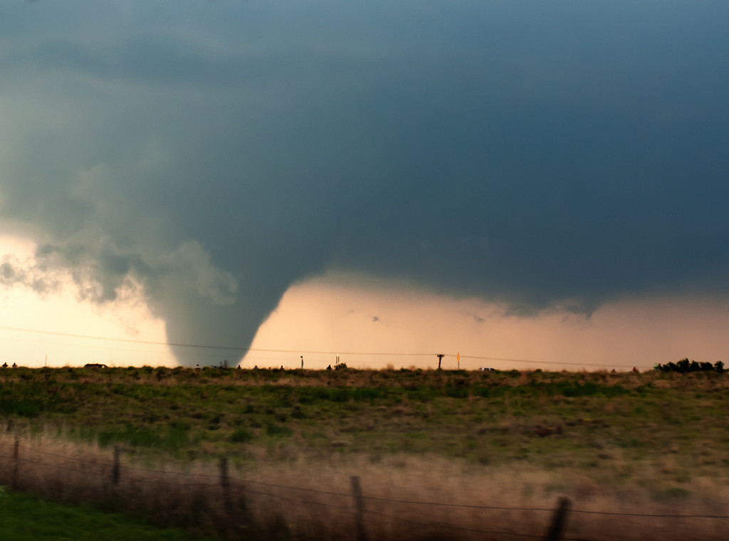 Tornado in northwest Oklahoma on April 14, 2012. (Zachary Biggs via Flickr)