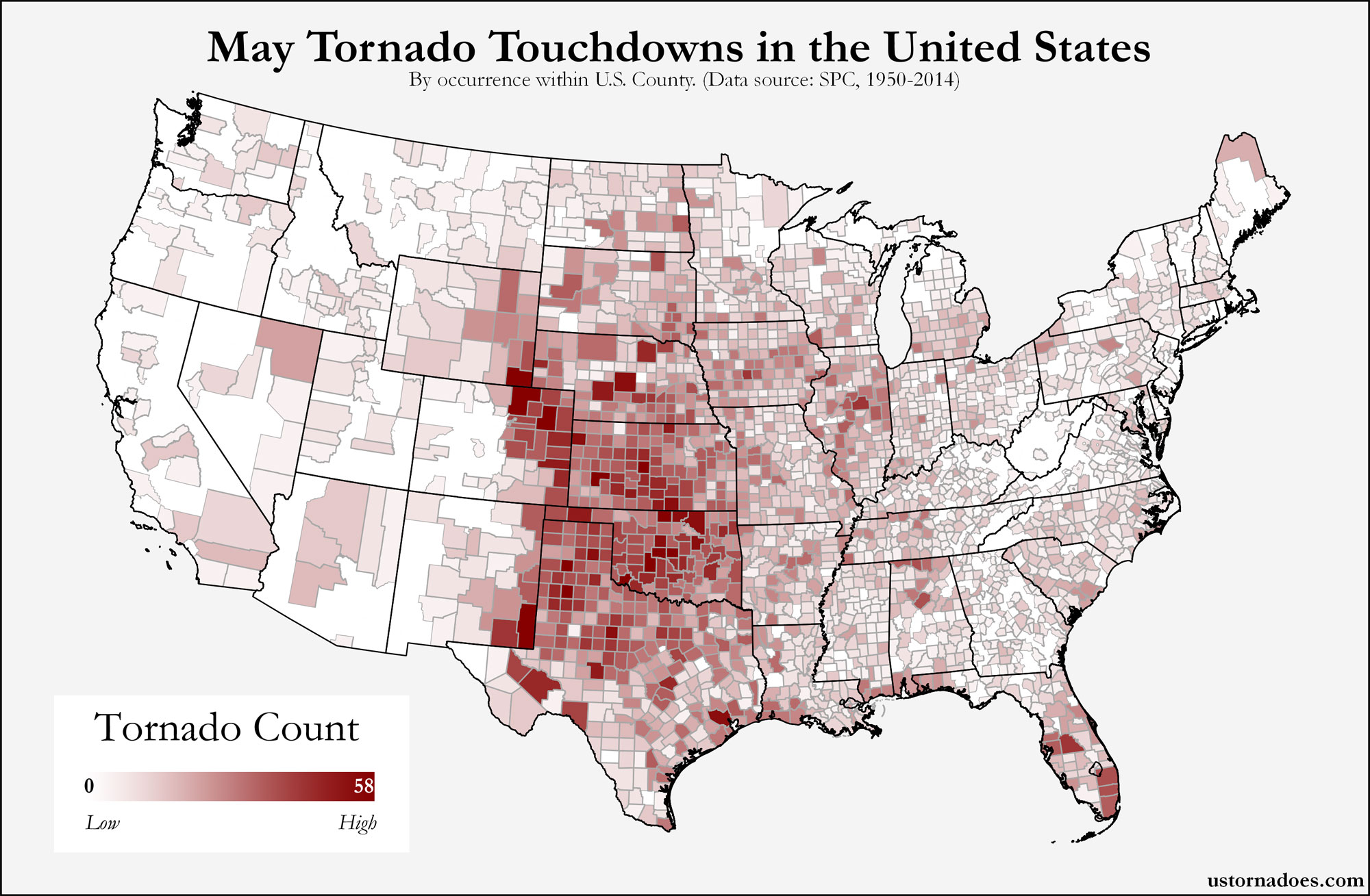 US Tornado Map Archives US Tornadoes - State map of the us