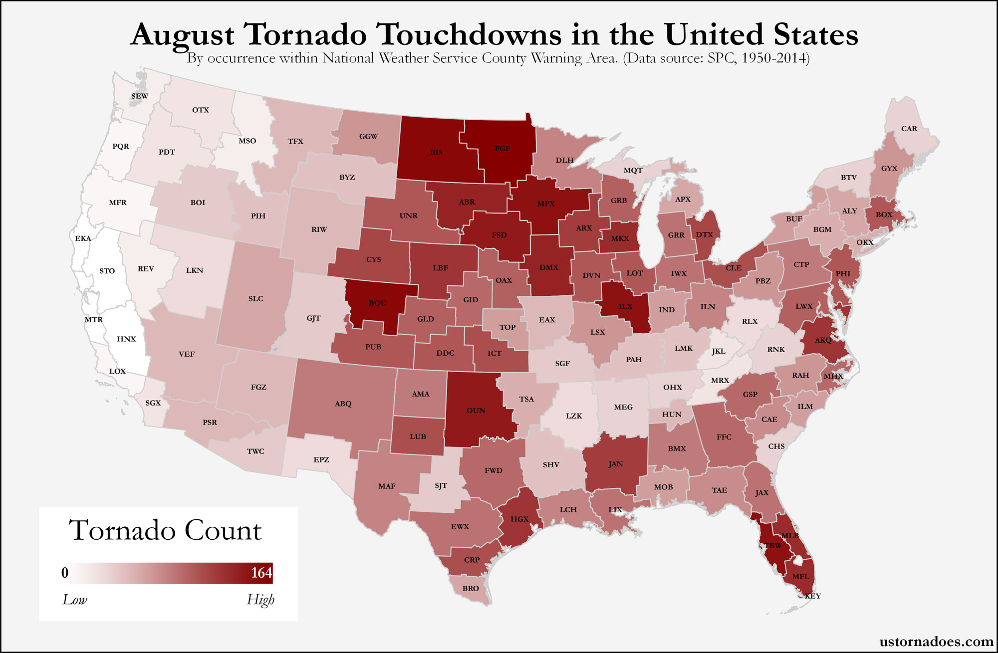 Here S Where Tornadoes Typically Form In August Across The United States