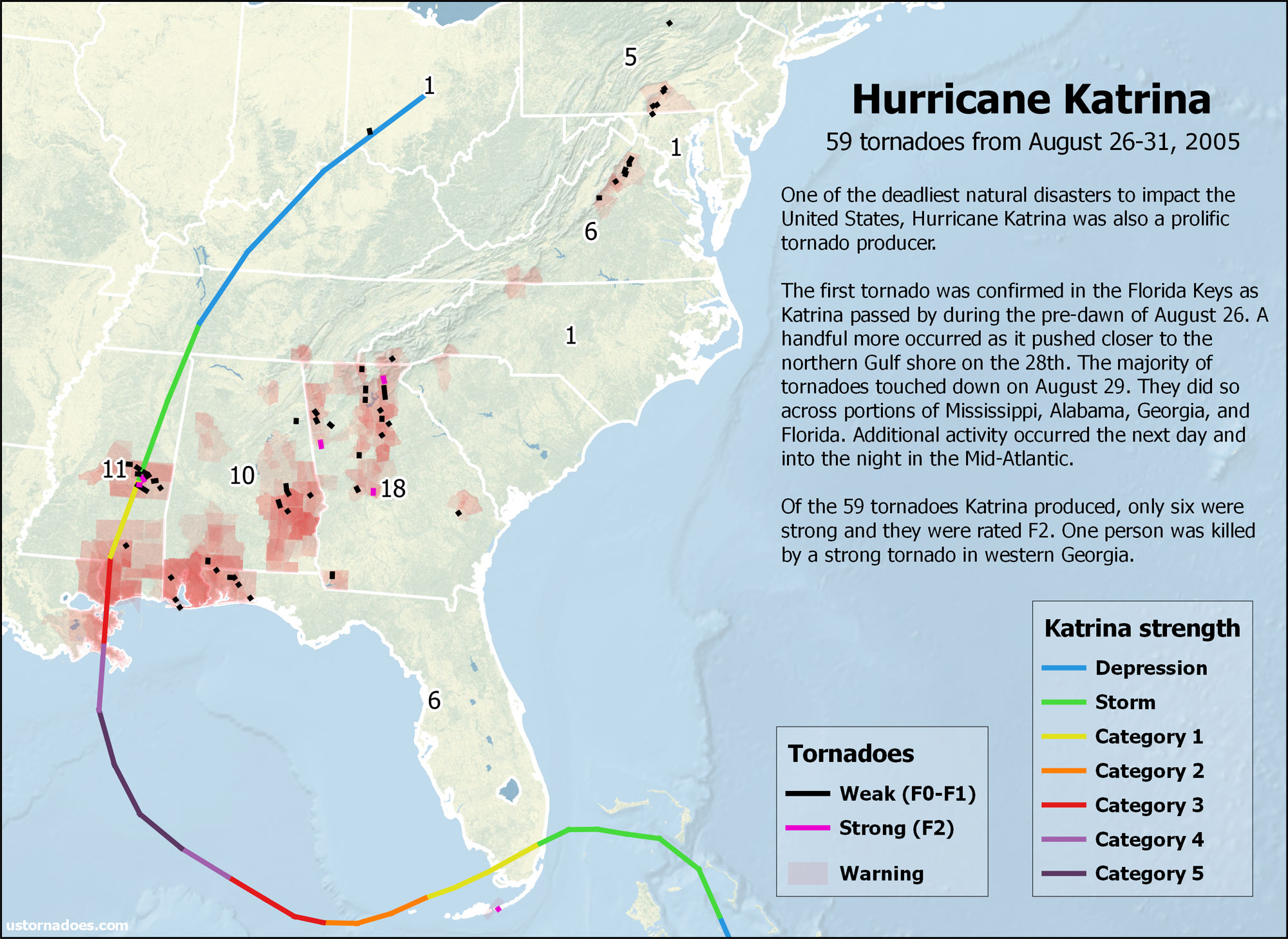 Hurricane Katrina also caused a tornado outbreak - U.S. Tornadoes
