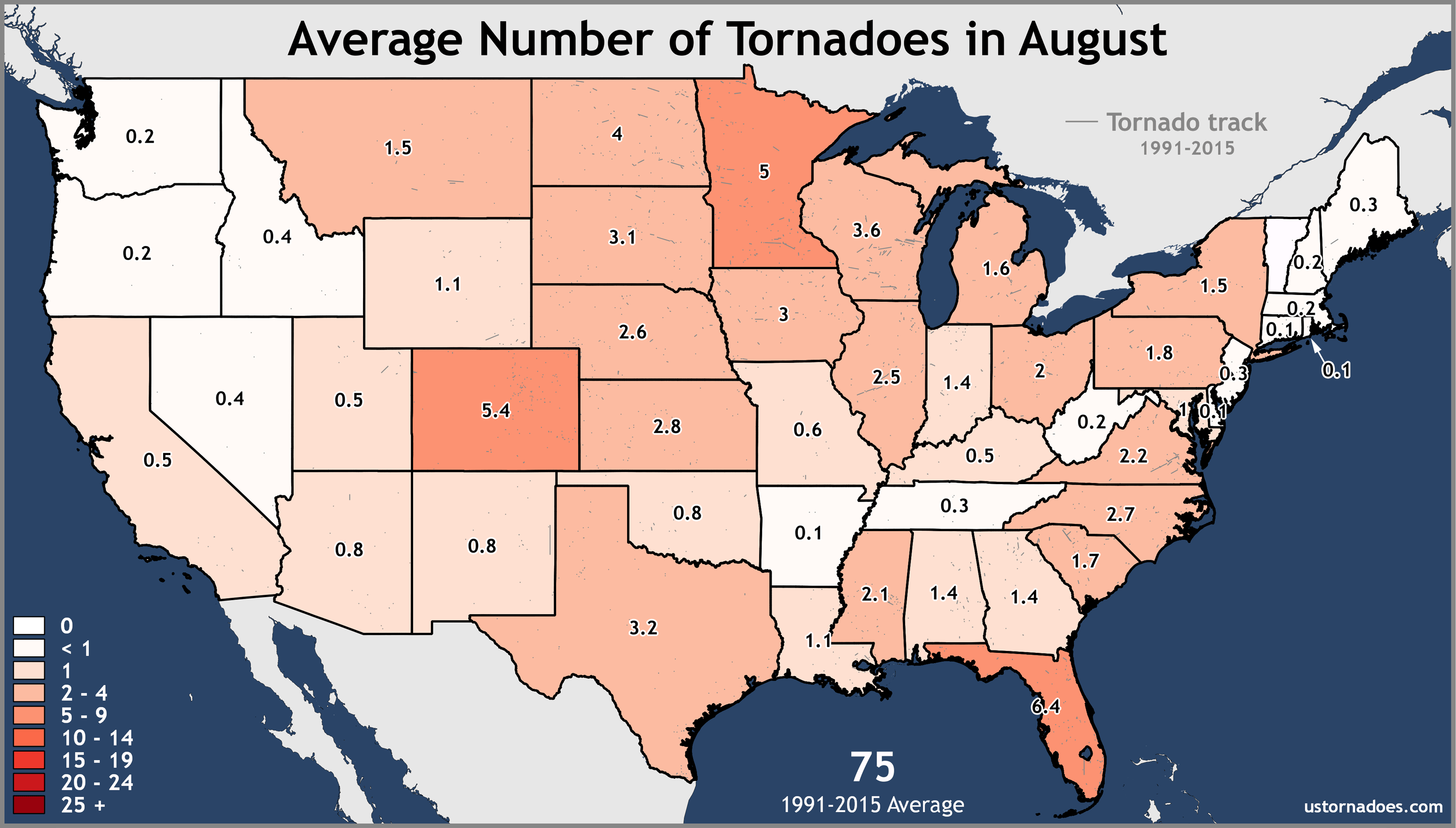 August-United-States-Tornadoes-Average