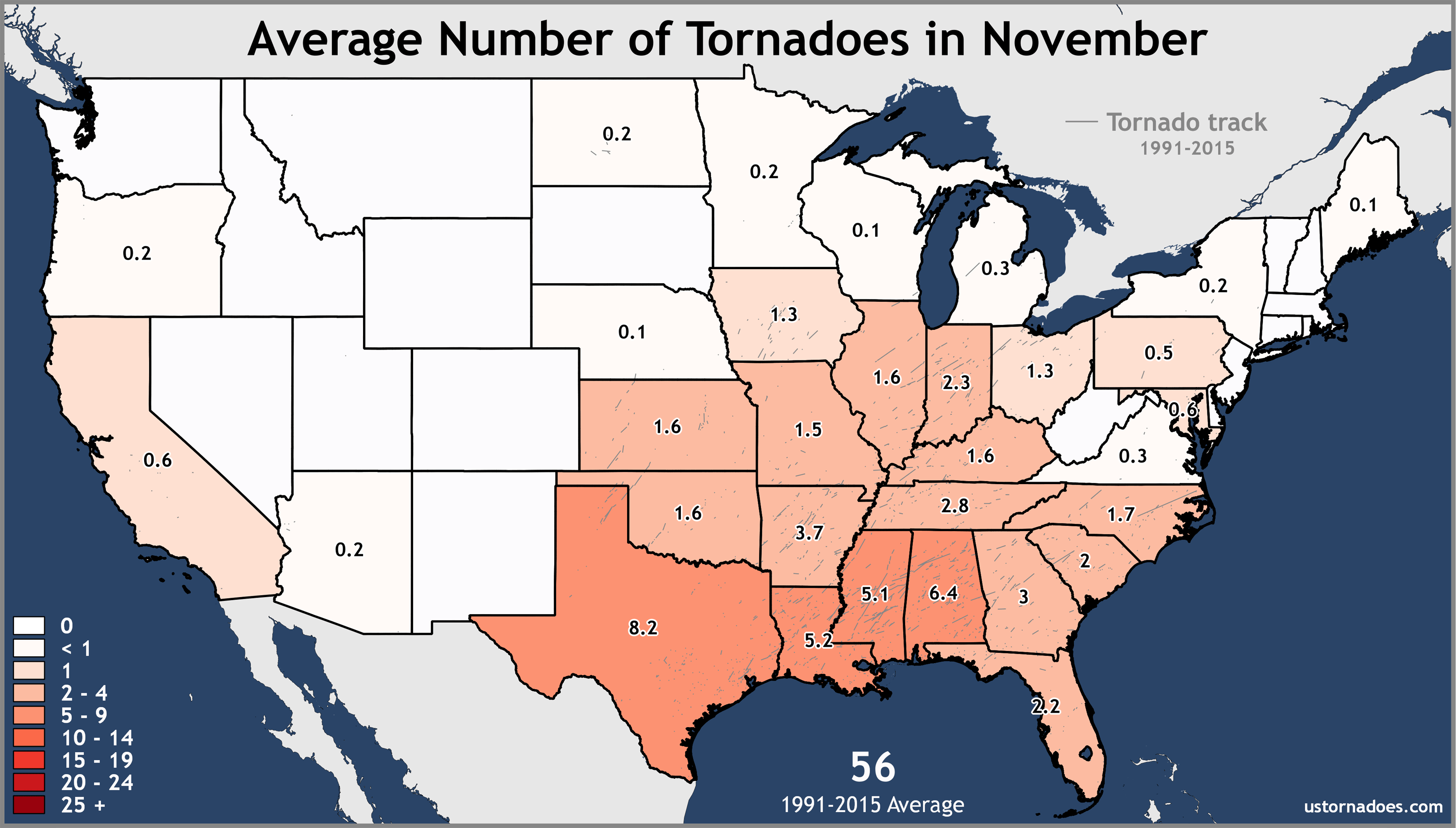 November-United-States-Tornadoes-Average