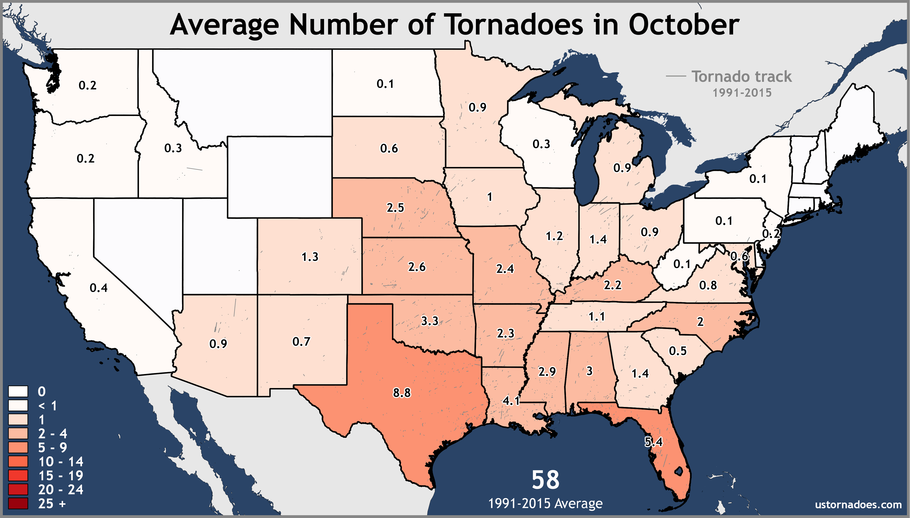 October-United-States-Tornadoes-Average