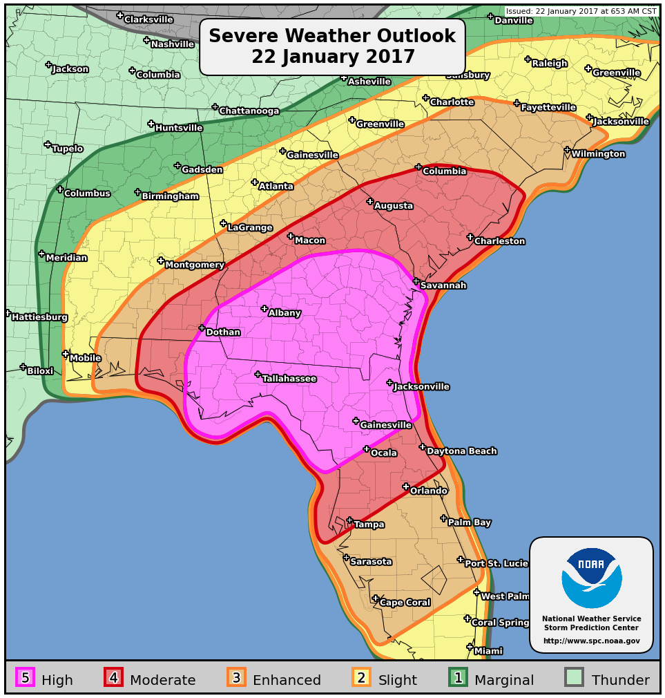 Recent High Risk Storm Outlooks Usually Foreshadow A Major Tornado - Us severe weather alert and tornado warning map