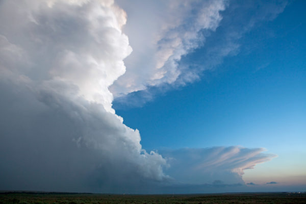 Storms at dusk in the Texas panhandle.