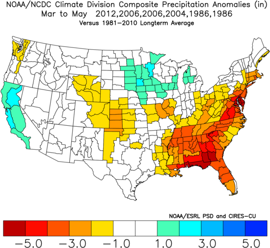 the overarching theme from these years is a somewhat active storm pattern keeping the western u s to near normal temperatures and precipitation