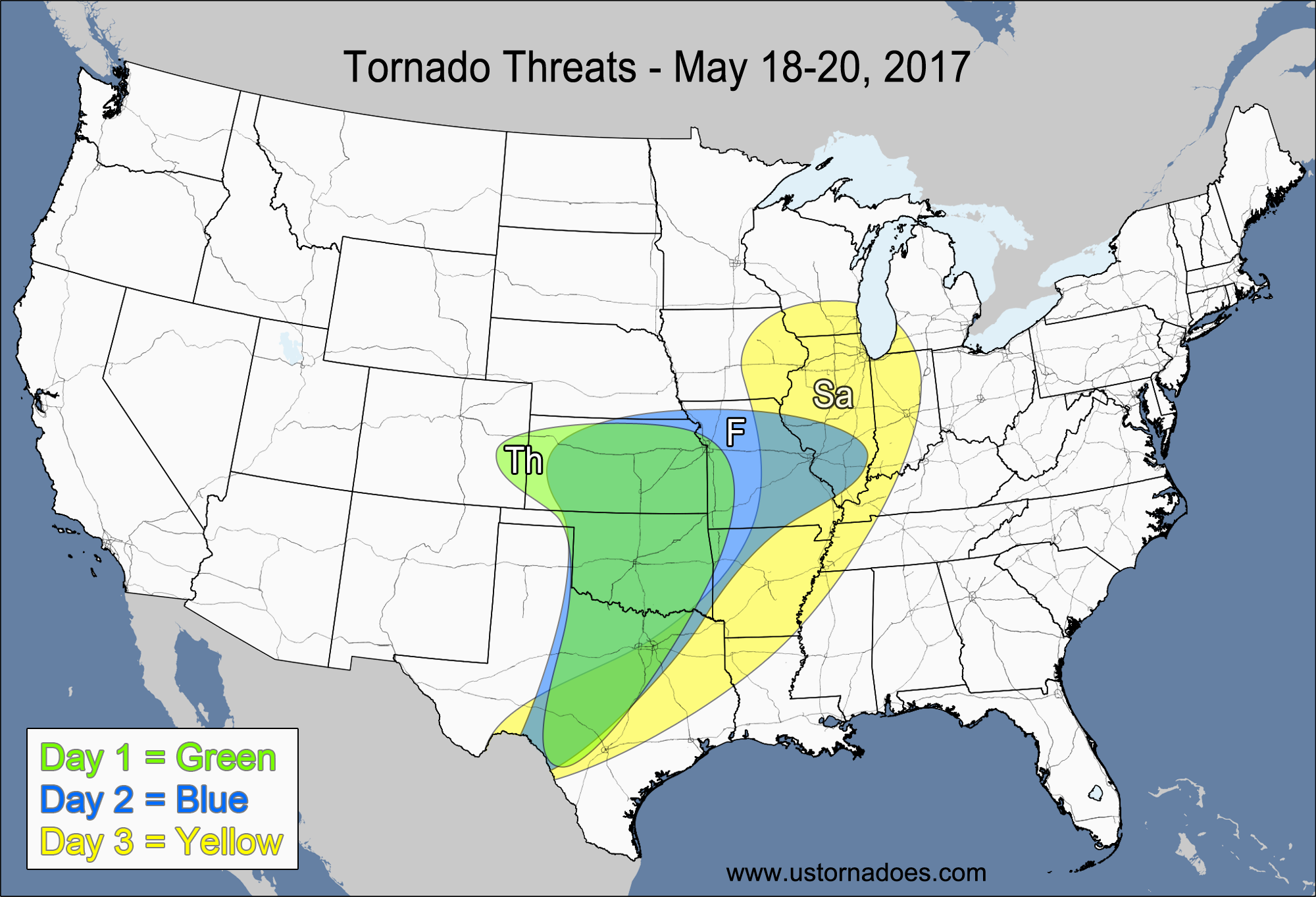 tornado threat forecast may 18 24 2017 u s tornadoes