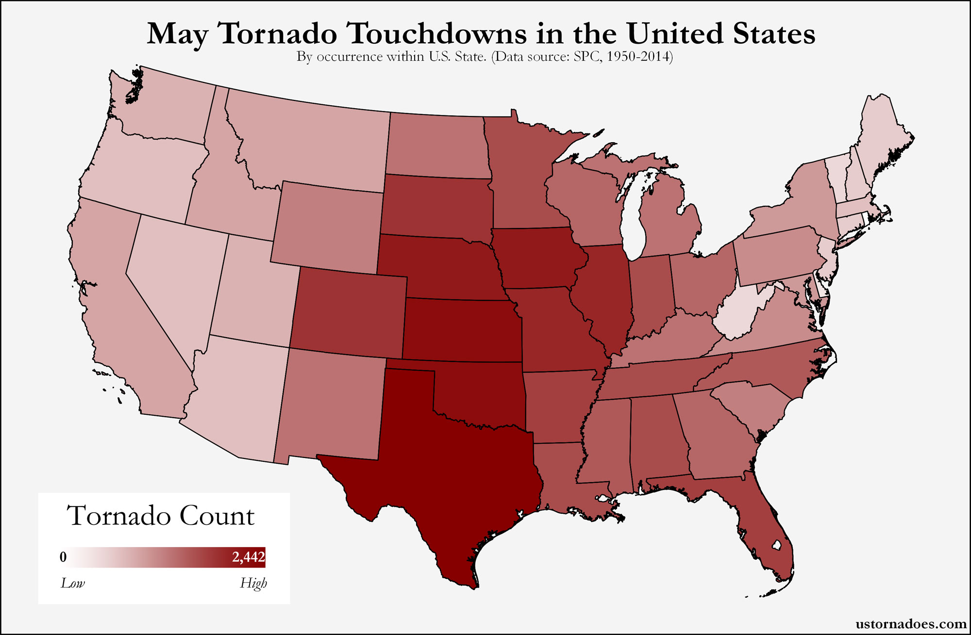 Here\'s where tornadoes typically form in May across the United ...