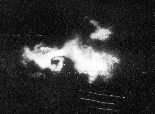 WSR-77 image from State College showing the supercell responsible for the Moshannon tornado. Source: NWS State College.