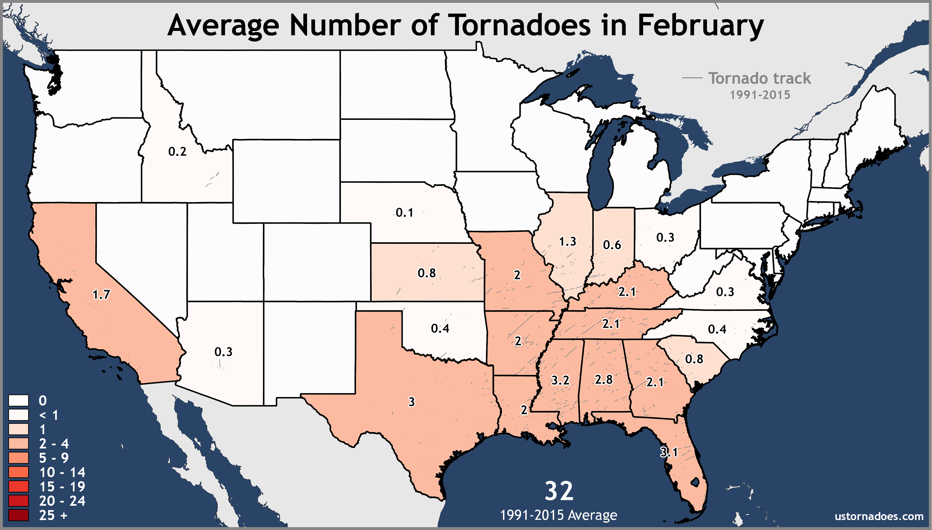 February-United-States-Tornadoes-Average