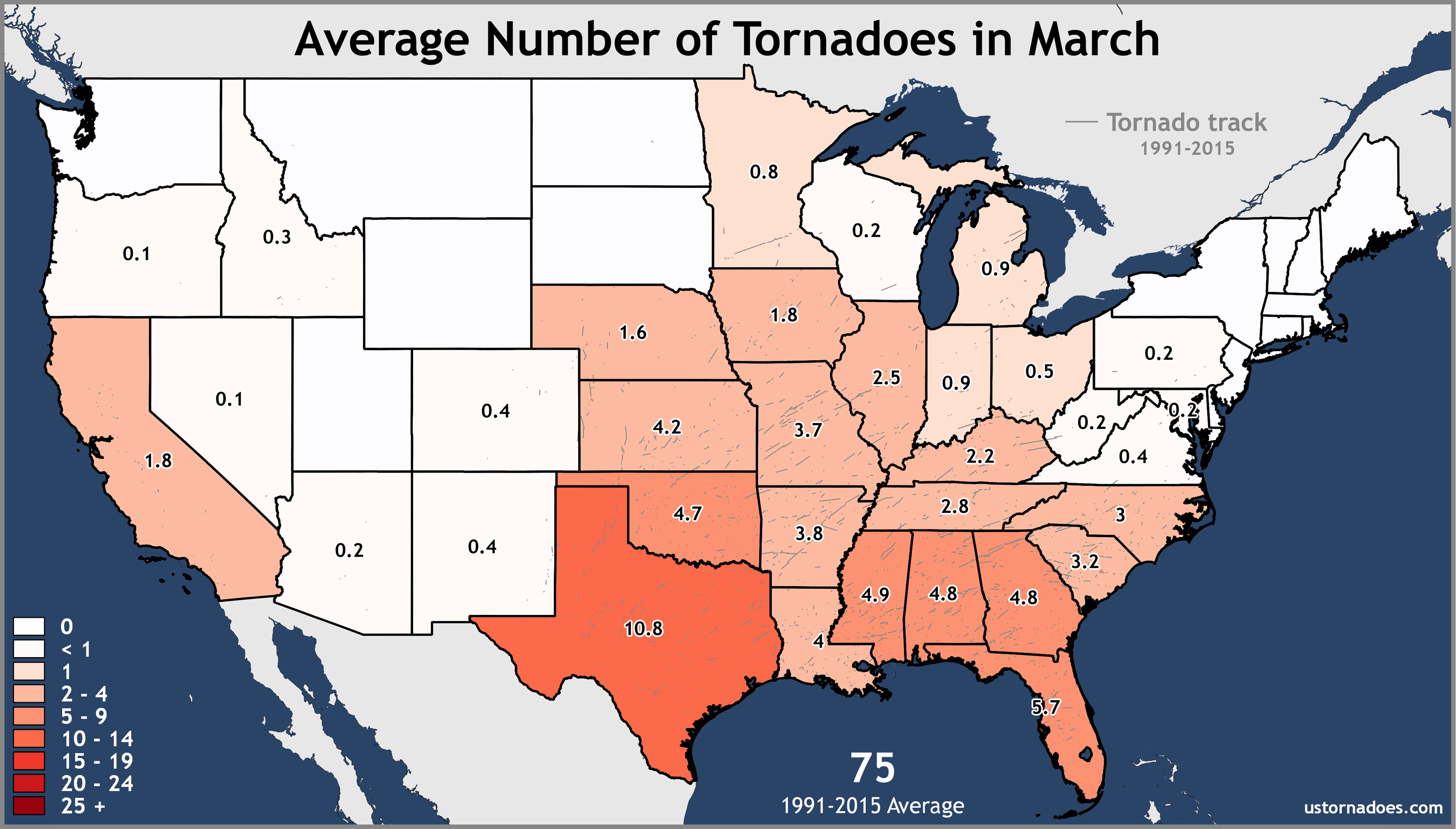 March-United-States-Tornadoes-Average