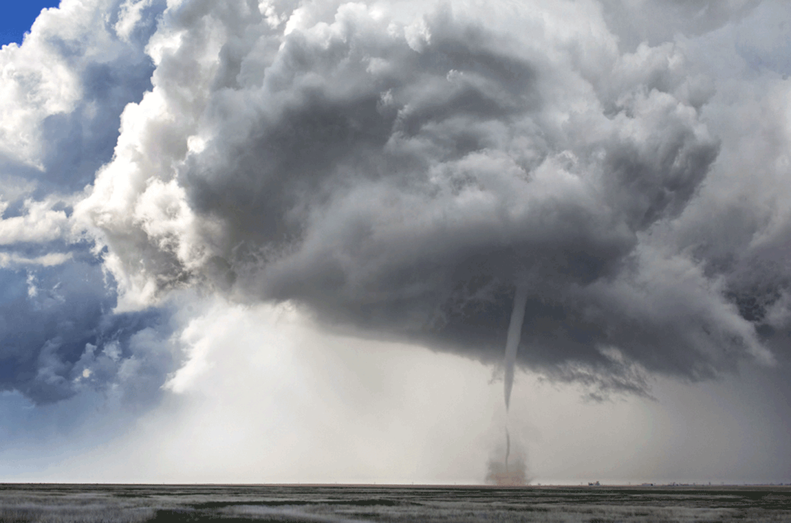 A tornado ropes out over the Colorado high plains on May 9. (Brian Miner Photography - Web, Twitter)