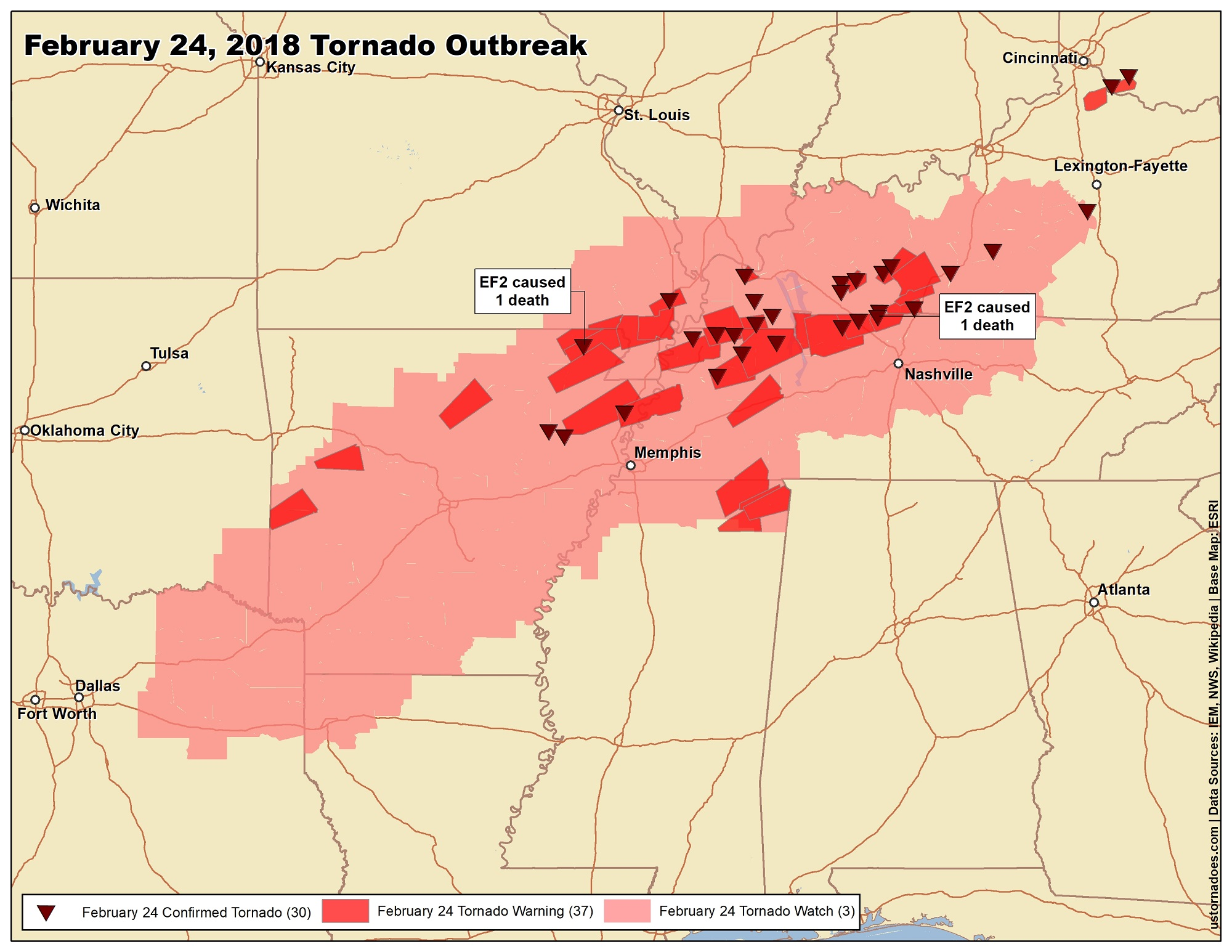 The biggest tornado events of 2018 - U.S. Tornadoes on kansas snowfall map, kansas snow map, kansas county map, kansas territory map, wichita kansas map, kansas historical maps, razorback map, kansas water map, kansas wildlife and nature photography, kansas map with all cities, kansas attractions, kansas precipitation map, sedalia kansas map, kansas topo map, kansas weather, kansas ok map, tornadoes kansas map, kansas wind map, kansas drought map, kansas sinkhole map,