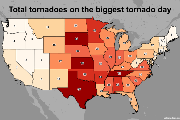 Map Of Tornadoes In The Us U.S. Tornado Map Archives   U.S. Tornadoes